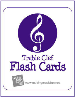 photo about Printable Music Flashcards titled Printable New music Take note Flash Playing cards Treble Clef and B Clef