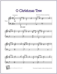 O Christmas Tree   Free Printable Piano Music – My Favorite Freebies