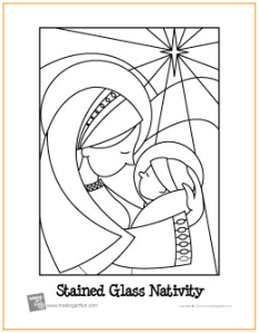 christmas stained glass window templates - free printable bible coloring pages nativity coloring