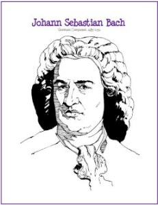 bach coloring page