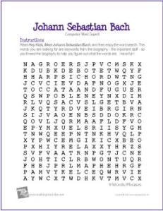 johann-sebastian-bach-word-search
