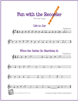 five-note-recorder-sheet-music