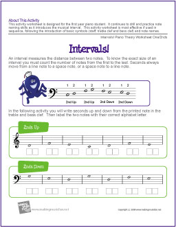 intervals-free-worksheet