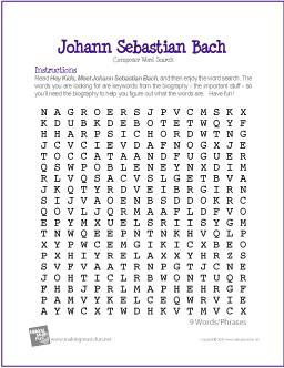 johann-sebastian-bach-word-search