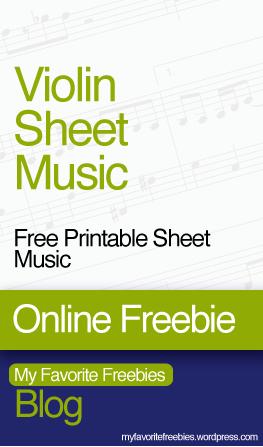 Free Printable Sheet Music for Easy Violin – My Favorite