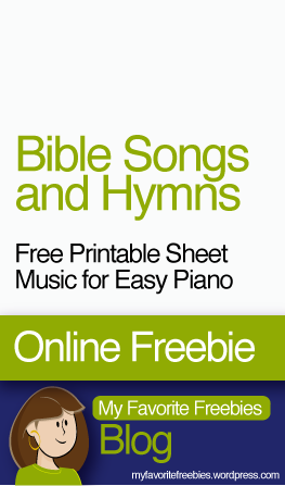 Free Bible Songs and Hymns | Printable Piano Sheet Music