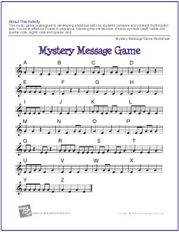 Music Game Worksheet | Free Printable Music Lesson Resource | My ...
