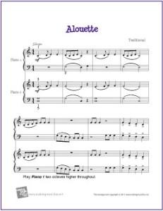 alouette-piano-duet