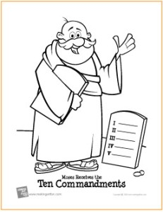 Ten Commandments Coloring Pages - Best Coloring Pages For Kids | 300x231