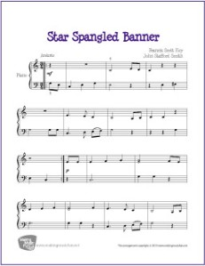 The Star Spangled Banner Sheet Music My Favorite Freebies