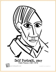 picasso-self-portrait-coloring-page
