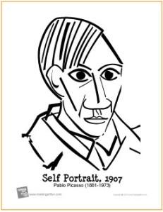 picasso-self-portrait-coloring-page