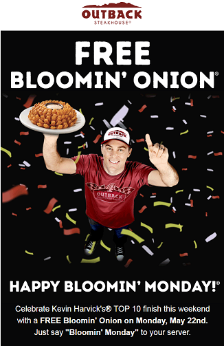 Free Outback Steakhouse Bloomin Onion