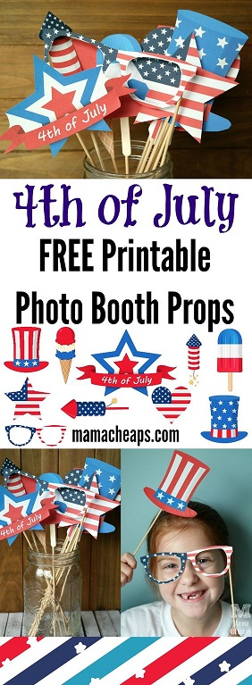Free Patriotic Photo Booth Props