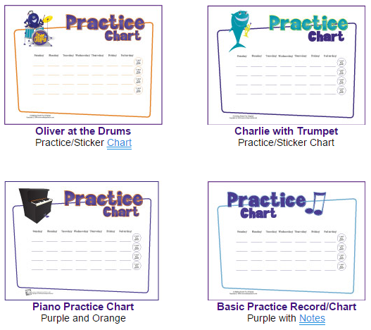 Free Music Practice Charts