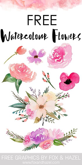 Free Watercolor Flowers - Download1