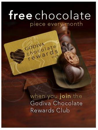Godiva Free Chocolate