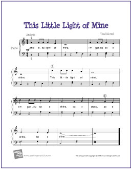 This Little Light of Mine Free Sheet Music