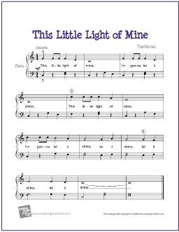 This Little Light of Mine Free Sheet Music